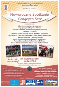 plakat koncert częstochowa 27.01.2018